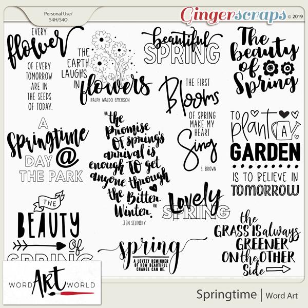 Springtime Word Art