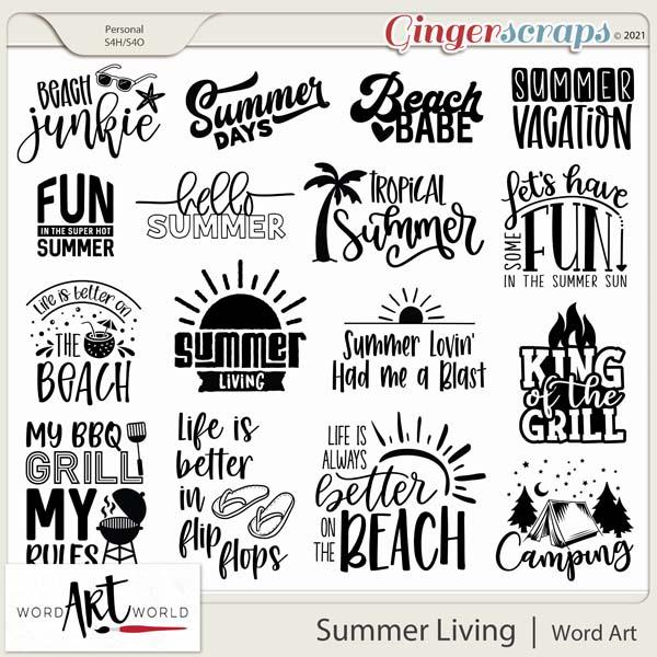 Summer Living Word Art