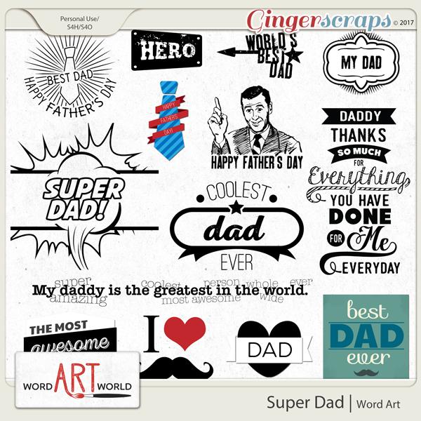 Super Dad Word Art