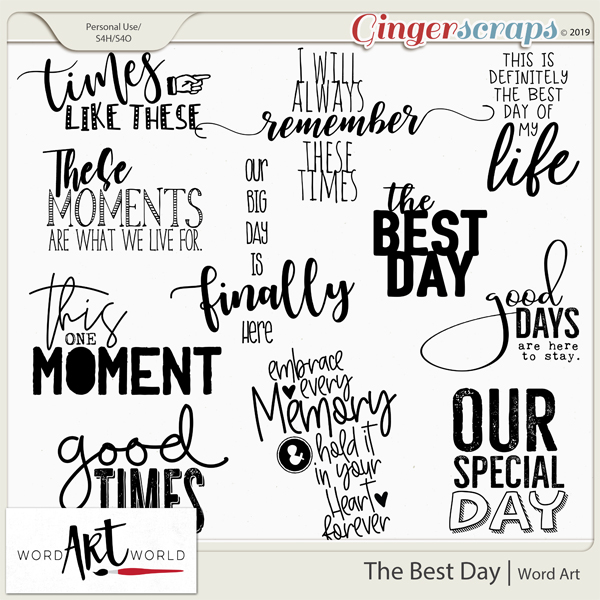 The Best Day Word Art