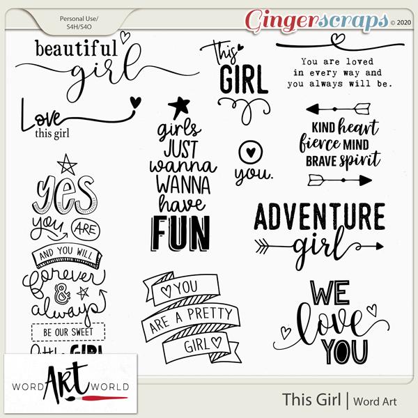This Girl Word Art