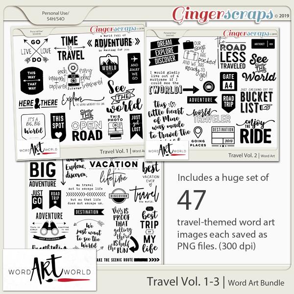 Travel Vol. 1-3 Word Art Bundle