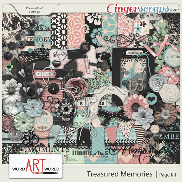 Treasured Memories Page Kit