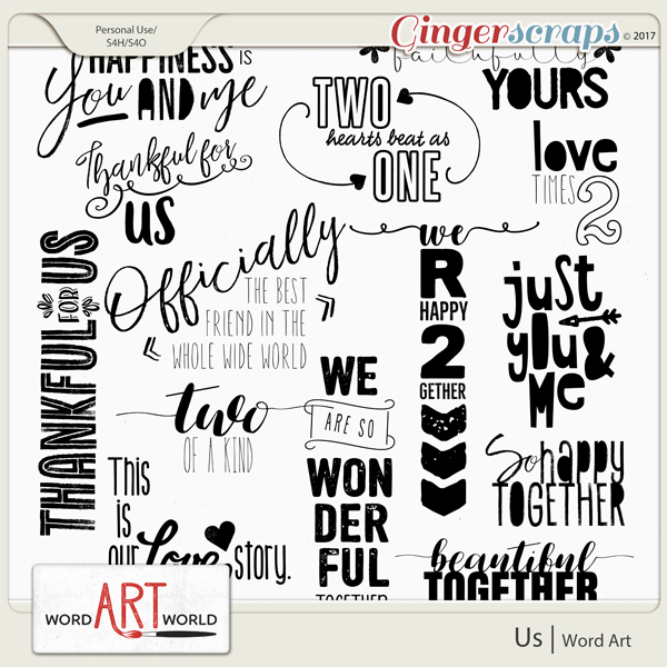 Us Word Art
