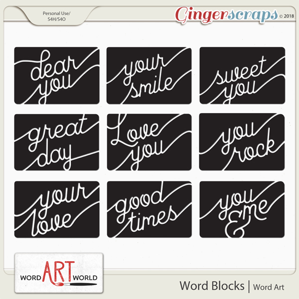 Word Blocks Word Art