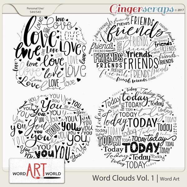 Word Clouds Vol. 1