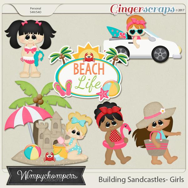 Building Sand Castles Girls