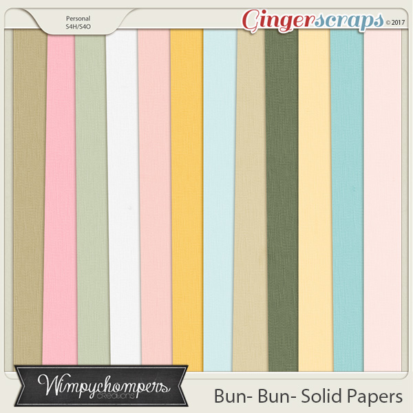 Bun Bun- Solid Papers