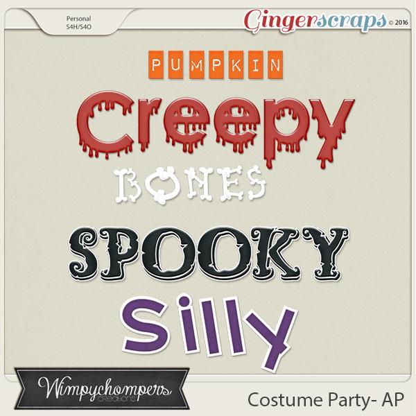 Costume Party Alphabet
