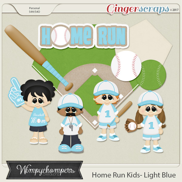 Home Run Kids- Light Blue