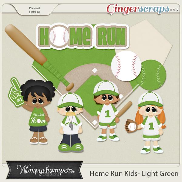 Home Run Kids- Light Green