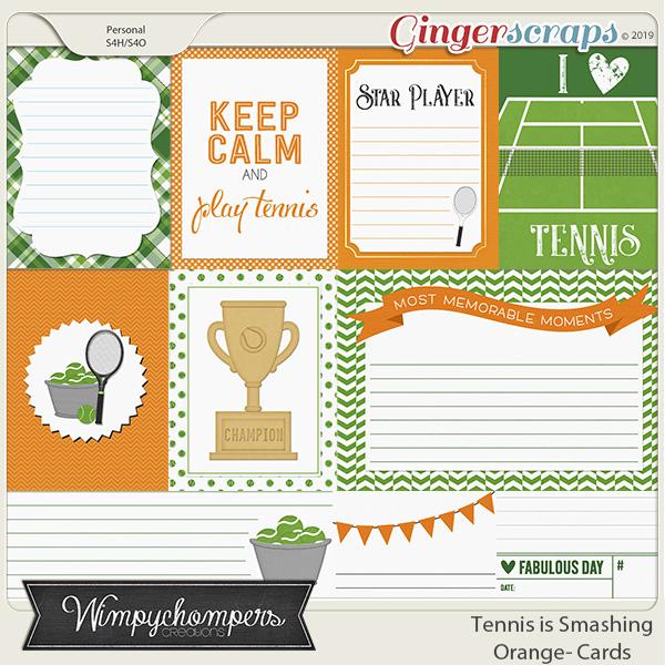 Tennis is Smashing- Orange Cards