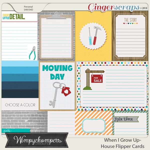 When I Grow Up- House Flipper- Cards