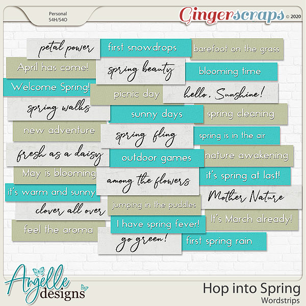 Hop into Spring. Wordstrips by Angelle Designs
