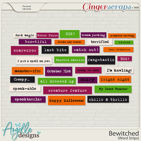 Bewitched Word Strips by Angelle Designs