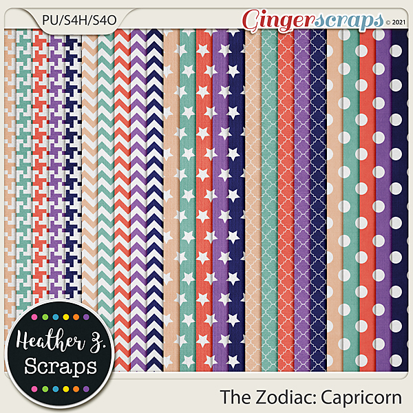 The Zodiac: Capricorn EXTRA PAPERS by Heather Z Scraps