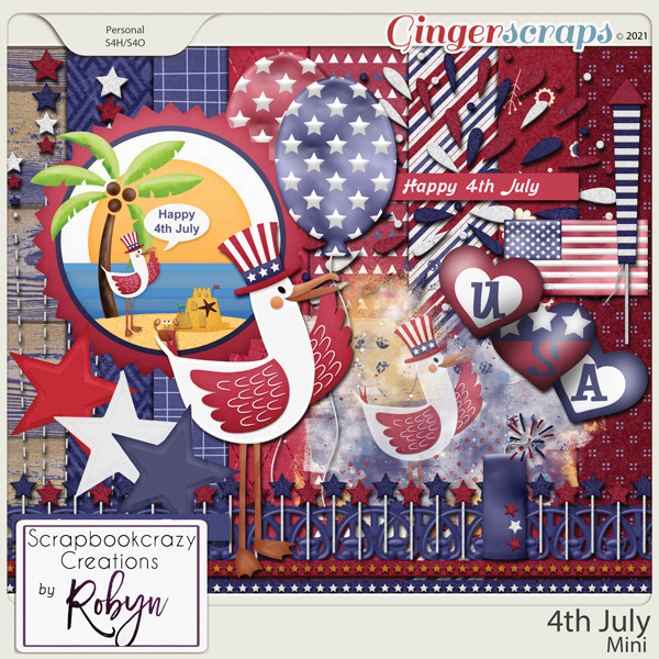 4th July Mini Kit by Scrapbookcrazy Creations