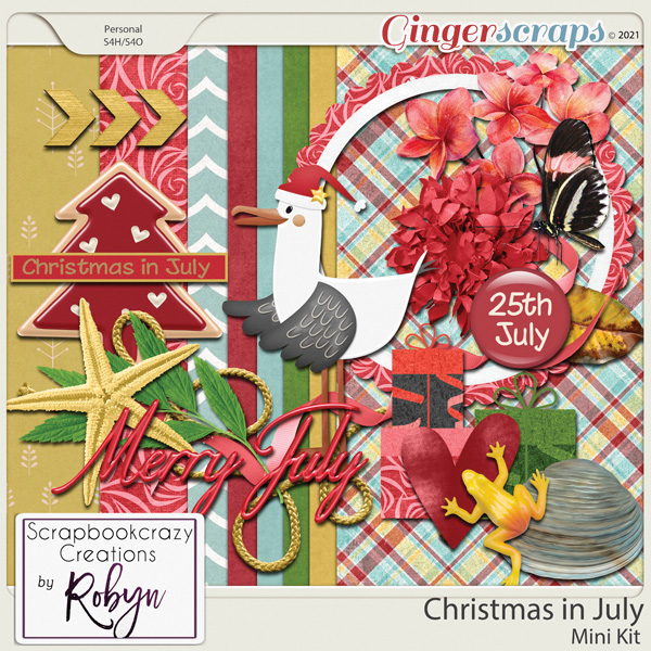 Christmas in July Mini Kit by Scrapbookcrazy Creations