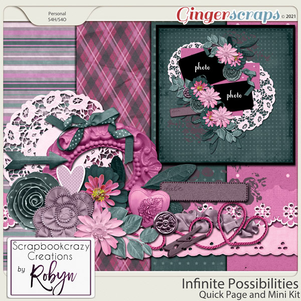 Infinite Possibilities Quick Page and Mini Kit by Scrapbookcrazy Creations