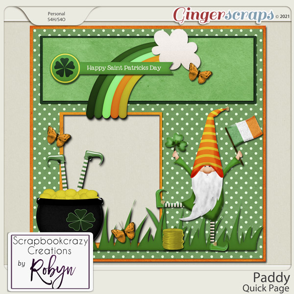 Paddy Quick Page by Scrapbookcrazy Creations