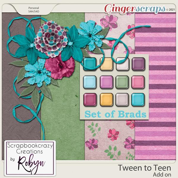 Tween to Teen Add on by Scrapbookcrazy Creations