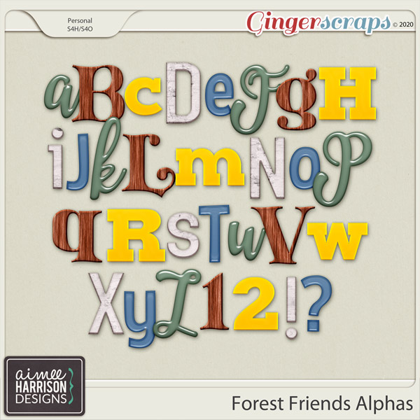 Forest Friends Alpha Sets by Aimee Harrison