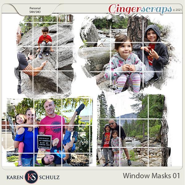 Window Masks 01 by Karen Schulz