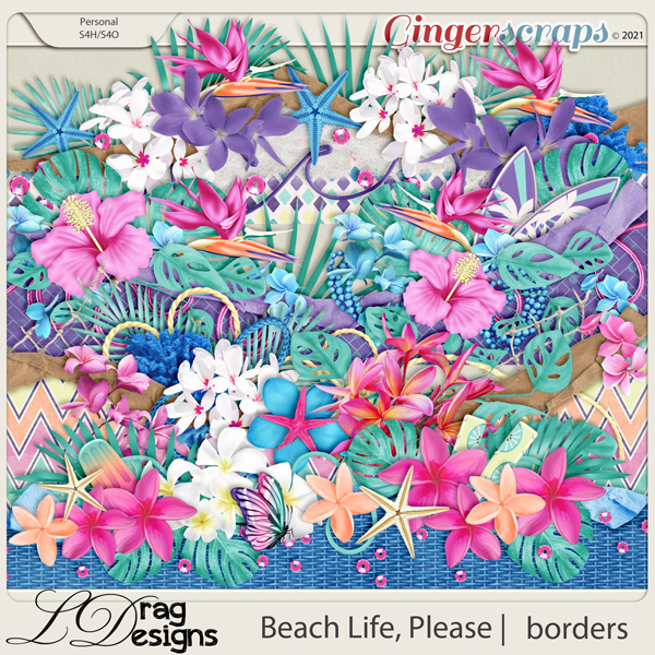 Beach Life, Please: Borders by LDragDesigns