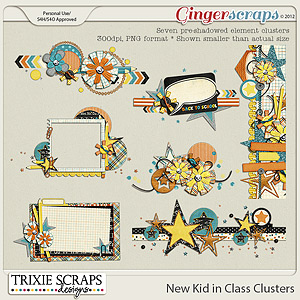 New Kid in Class Clusters by Trixie Scraps Designs