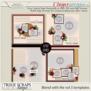 Blend with Me vol 3 {Template Pack} by Trixie Scraps Designs