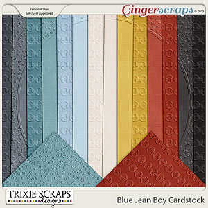 Blue Jean Boy Cardstock by Trixie Scraps Designs