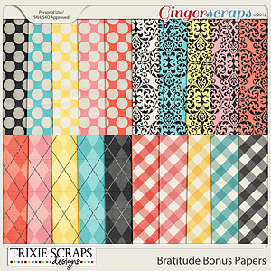 Bratitude Bonus Papers by Trixie Scraps Designs