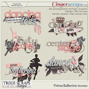 Prima Ballerina Wordart by Trixie Scraps Designs