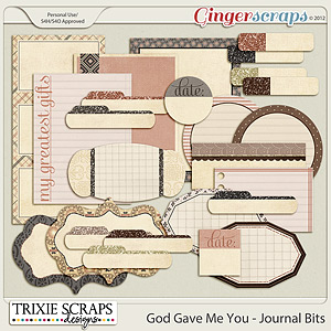 God Gave Me You Journal Bits by Trixie Scraps Designs