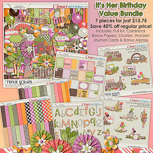 It's Her Birthday Value Bundle by Trixie Scraps Designs