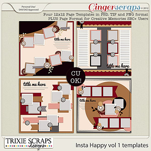 Insta Happy vol 1 template pack by Trixie Scraps Designs