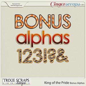 King of the Pride Bonus Alphas by Trixie Scraps Designs