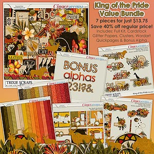 King of the Pride Value Bundle by Trixie Scraps Designs
