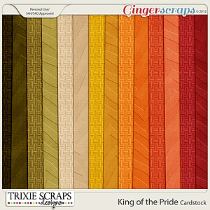 King of the Pride Cardstock by Trixie Scraps Designs