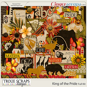 King of the Pride Full Kit by Trixie Scraps Designs