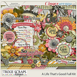 A Life That's Good Full Kit by Trixie Scraps Designs