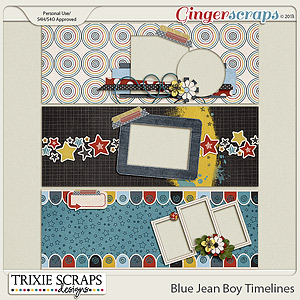 Blue Jean Boy Timelines by Trixie Scraps Designs