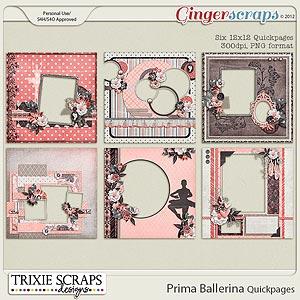 Prima Ballerina Quickpages by Trixie Scraps Designs