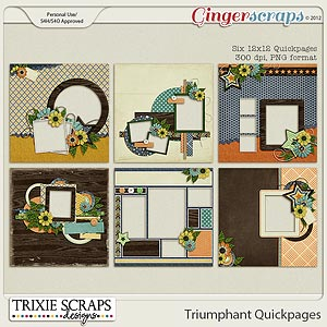 Triumphant Quickpages by Trixie Scraps Designs