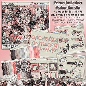 Prima Ballerina Value Bundle by Trixie Scraps Designs