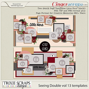 Seeing Double volume 13 Template Pack by Trixie Scraps Designs
