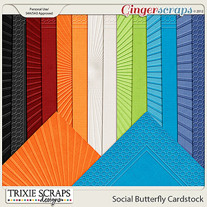 Social Butterfly Cardstock by Trixie Scraps Designs