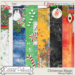Christmas Magic - Messy Papers by Connie Prince