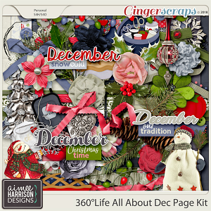 360°Life All About December Page Kit by Aimee Harrison