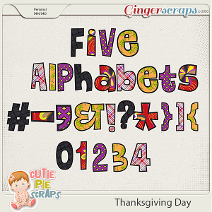 Thanksgiving Day-Alphabets